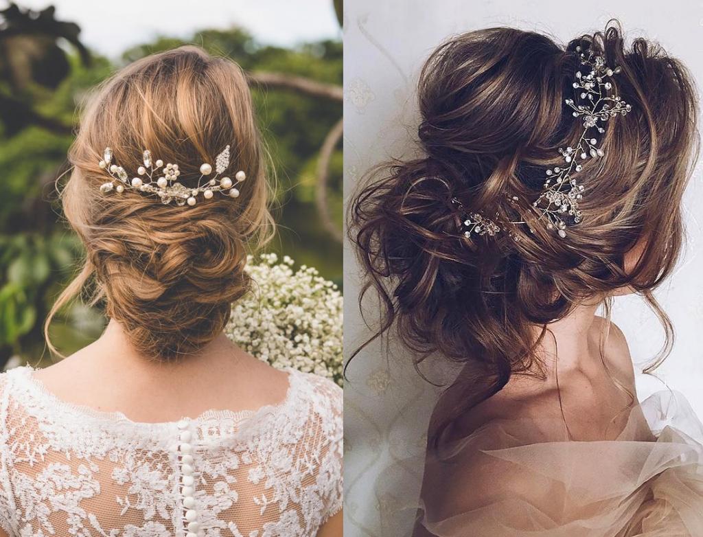 những kiểu tóc cô dâu đơn giản mà đẹp 2