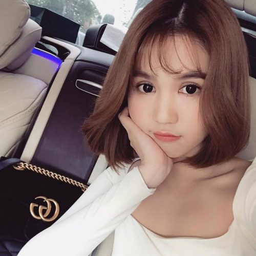 tóc ngắn mái lưa thưa hot trend 2018 -5